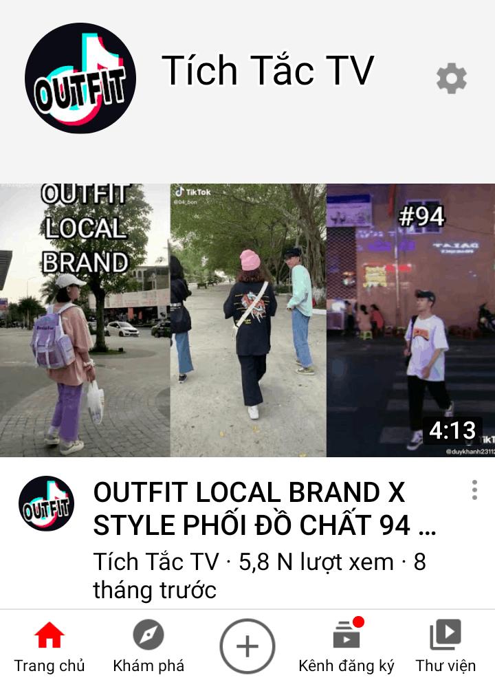 Kênh Youtube từ TikTok